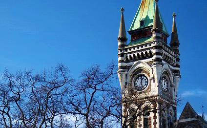 オタゴ大学のシンボルの時計台